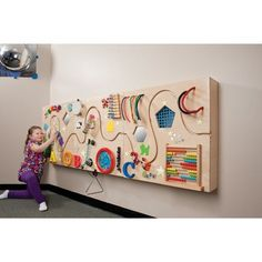 Interactive panels are a great way for your many different clients to receive sensory input. These three panels are made of Baltic Birch and offer tactile, visual and sound sensations. Each panel has a curvy roadway along its width where your clients can guide their vehicles, working on tracking and upper body gross motor skills. If you put the panels together on the wall, the vehicles can be moved along the entire 90 inches. The panels can also be freestanding and placed on the floor…