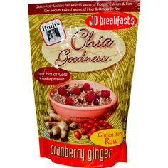Ruth's Hemp Foods, Chia Goodness, Cranberry Ginger, 12 oz (340 g)