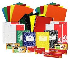 Back to School Pens, Pencils, Paper Supply Bundle Box (Wide Ruled) #Unknown