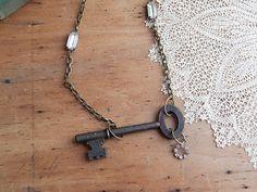 Skeleton key necklace  key necklace  skeleton by FleetwoodandCo, $28.00