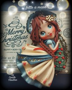 Doll Christamas polymer clay fimo