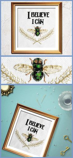 Such a funny cross stitch pattern - I Believe I Can Fly