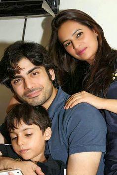 Unseen Real life Pics of Fawad Afzal Khan with Wife Sadaf Fawad Khan and Son Ayaan Khan