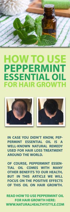 In case you didn't know, peppermint essential oil is a well-known natural remedy used for hair loss treatment around the world. Many people are convinced that it supports hair growth by boosting blood circulation in the area where so-called follicular skin papilla cells are located. They manage hair production and growth cycles.