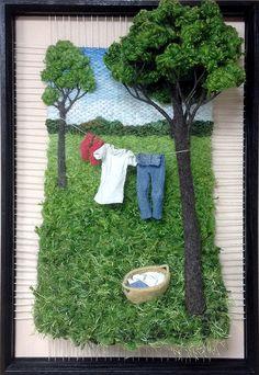 Working Trees. Martina Celerin. Dimensional Weaving.