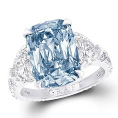 H D Diamonds is your direct contact to diamond trade suppliers, a Bond Street jeweller and a team of designers.www.handddiamonds...Tel: 0845 600 5557 - Graff blue #diamond #engagement #ring Please follow / repin my pinterest. Also visit my blog  http://mutefashion.com/