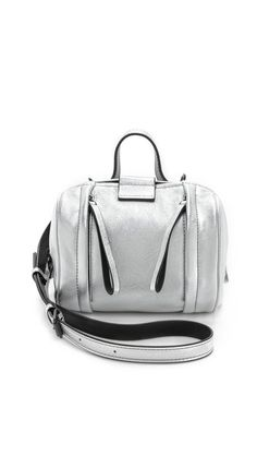 Marc by Marc Jacobs Metallic Moto Barrel 18 Bag in Argento