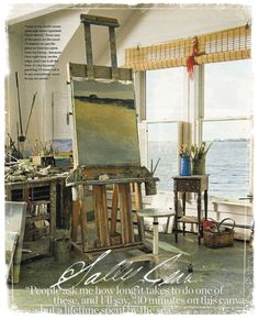 Art Studio by the beach  this would be my kind of home 24/7  paint the beach like it is seen from the window:0