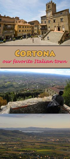 """Under the Tuscan Sun"" in Cortona. It's our favorite Italian town.  This post covers things to do and places to see in this pretty town  #Cortona #Italy #Tuscany"