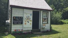 Why this Digby man built a shrine to Maud Lewis Maud Lewis, Southern Gothic, Nova Scotia, Original Paintings, Folk, Shed, Outdoor Structures, Landscape, Inspired
