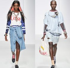 Ashish 2014 Spring Summer Womens Runway Collection - London Fashion Week - International Supermarket Grocery Store Shredded Destructed Denim...