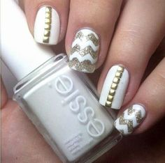 White Essie Nails