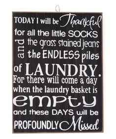 This 'Today I Will Be Thankful' Wall Sign is perfect! #zulilyfinds