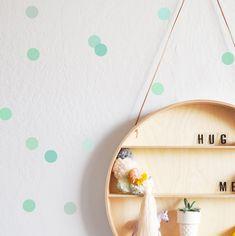 Mono Mint TINY DOTS Wall decal