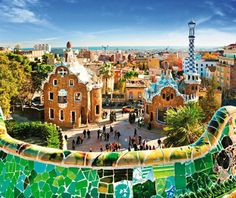 Park Güell,Barcelona,Spain - CAN'T WAIT TO TAKE AMAZING PHOTOS LIKE THIS!!!#infusethejoy#thejoytour