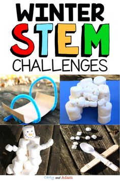 Build a STEM Snowman, have a STEM Snow Ball Fight, engineer a STEM Snow Fort, and create STEM Sleds! Your students will love this winter-themed STEM Activities Bundle! Students receive a letter from the STEM snowman that describes each challenge. These are excellent engaging activities for students to work on during the winter months! #winterstemactivities #winterstemchallenges