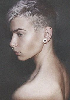 androgynous. Love the hair.
