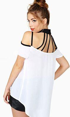 Fabric Type  Chiffon Sleeve Length  Short Decoration  None Collar   Turn-down Collar Gender  Women Size S Front Size M Front Size L Front  Size XL Front 66dd06fa185e