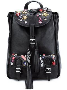 SAINT LAURENT mini embellished backpack.  saintlaurent  bags  leather   stone  backpacks e85728590e