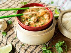 Heiß und asiatisch: Schnelle Kokos-Curry-Glasnudelsuppe