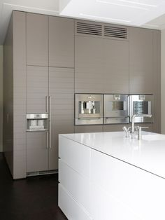 Kitchen in grey and white