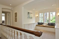 The upstairs landing area includes a sitting window. Photo: Liz Rusby/The Grubb Co.