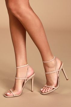 Nectur Nude High Heel Sandals