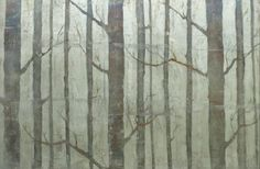 Verre Eglomise - gilding on glass-wood silver birch panel detail - hand designed treated silver gilt made by Filigrana Design in her London studio Distressed Mirror, Gold Gilding, House In The Woods, Glass Panels, Wood Paneling, Gold Leaf, Birch, Different Colors, Photo Galleries