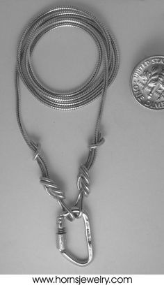 Unique Sterling Silver Climbing Rope Chain Necklace. can you say must have?!