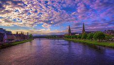 Sunset Over River Ness, Inverness, Scotland by Raiden316 on deviantART
