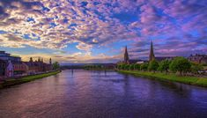 Sunset Over River Ness, Inverness, Scotland by Raiden316