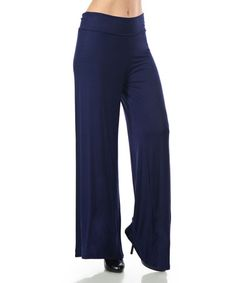 Another great find on #zulily! Navy Palazzo Pants #zulilyfinds