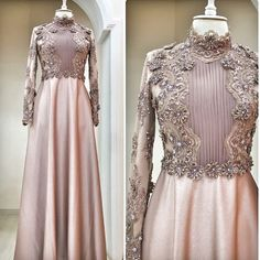 Swans Style is the top online fashion store for women. Shop sexy club dresses, jeans, shoes, bodysuits, skirts and more. Dress Brokat, Kebaya Dress, Muslim Wedding Dresses, Muslim Dress, Kebaya Muslim, Moslem Fashion, Hijab Dress Party, Modele Hijab, Hijab Style