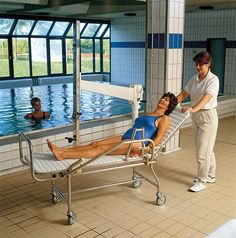 Neptune Pool Lift with stretcher supplied by Dolphin Lifts UK