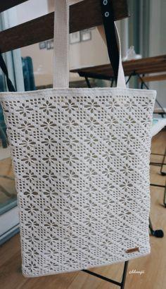 여름용 에코백 스타일 레이스 코바늘 그물 가방 : 네이버 블로그
