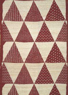 Wall hanging triangle patterns, design: Keisuke Serizawa (1895-1984)