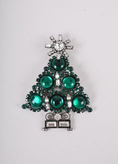 Say Merry Christmas with this Lawrence VRBA tree brooch!