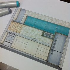 Front view of the kitchen! #papodearquiteto #arquisemteta #arquitetapage…