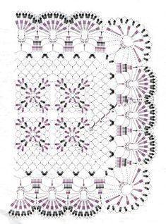 Crochet Table Runner Pattern, Crochet Mandala Pattern, Afghan Crochet Patterns, Crochet Squares, Crochet Carpet, Crochet Home, Crochet Flower Tutorial, Crochet Flowers, Crochet Dollies