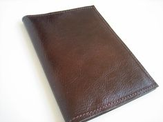Dark Brown Leather Passport Cover $29.00    This passport cover is perfect to hold your passport, id, credit cards, train tickets or any other travel papers you need to keep track of.