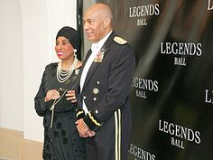 Leontyne Price arrives at Oprah's Legends Ball with her brother, Brigadier General (Ret.) George B. Price.