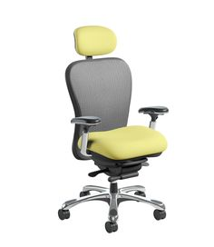 A refreshingly cool look that will enhance any office environment 👉 CXO 👈 Office Seating, Office Environment, How To Look Better, Cool Stuff, Chair, Yellow, Furniture, Design, Home Decor