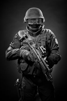 Riot gear scares me. I can't see a person, they become the dark shadows and it freaks me out!