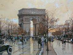 Resultado de imagem para telas de cenas de paris