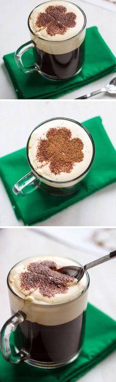 Creamy Irish Coffee | St Patricks Day Cocktails