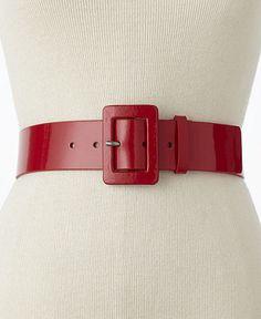 Red patent belt