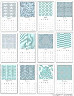 Free printable 2014 desktop calendar that fits into a standard plexi 5 x 7 upright frame.  {The Creativity Exchange}