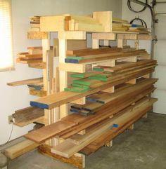 Lumber storage rack | Re: Completed lumber storage racks *PIC*