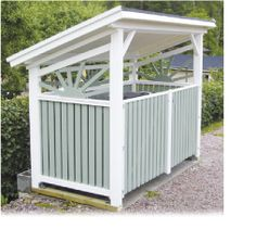 jätekatos - Google-haku Can Storage, Plank, Alice, Outdoor Structures, Gardening, Google, Outdoor Decor, Ideas, Home Decor