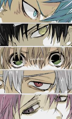 Black☆Star, Death the Kid, Maka Albarn, Soul Eater Evans, Crona Soul Eater Stein, Soul Eater Evans, Soul Eater Kid, Soul Eater Manga, Soul Eater Death, Soul And Maka, Anime Soul, Anime Eyes, Anime Art